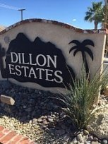 Dillon Mobile Home Estates sign