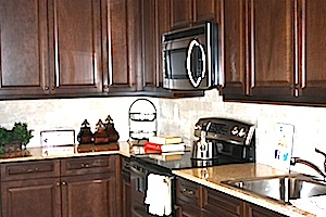 amherst model kitchen at Colony Preserve in Shirley NY