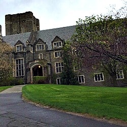 Cornell University building in Ithaca NY