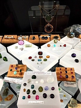 Gem collection in the Snee Building at Cornell University