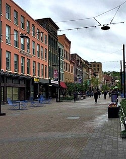 Ithaca Market Commons downtown