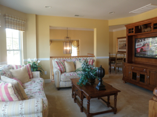 Vineyards at Moriches Lillet model home upstairs bonus room