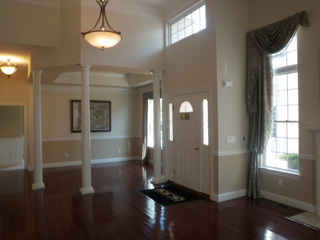 Vineyards at Moriches model home living room