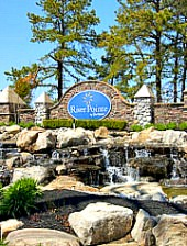 River Pointe in New Jersey entry waterfall