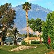 Caliente Springs golf course and mountain view