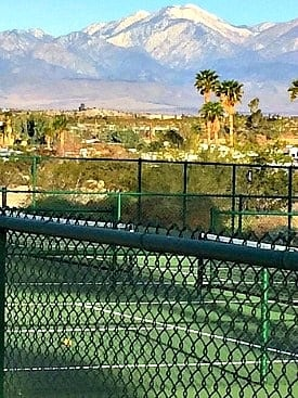 pickle ball courts with mountain view