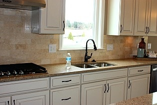 chef's kitchen in Courts of Clarksburg model home