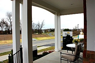 Courts of Clarksburg model home view from porch