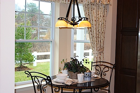 bay window with breakfast nook