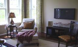 Heritage Hunt living room in model