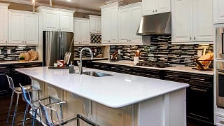 model home kitchen at Cresswind Charlotte NC