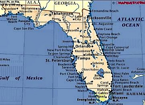 Map Of Coastal Florida.Manufactured Homes In Florida For Over 55