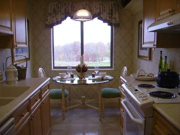 kitchen and breakfast area
