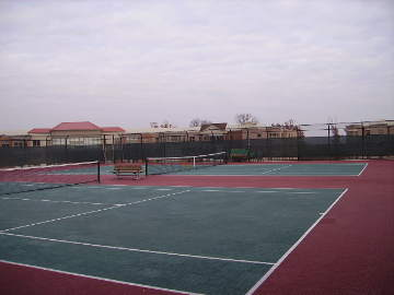 rooftop tennis courts