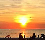 sunset at Westmeadow Beach on Long Island