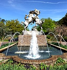 Statue at Brook Green Gardens at Myrtle Beach SC