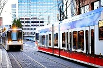 Portland light rail 206