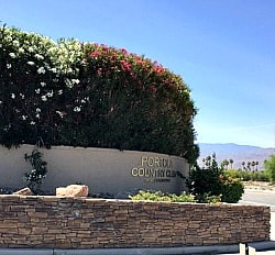 Portola Country Club entrance sign