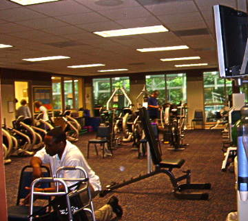 fitness center at Riderwood