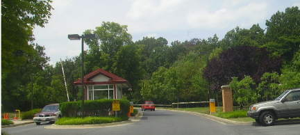 Security gate at Riderwood community in Silver Spring Md