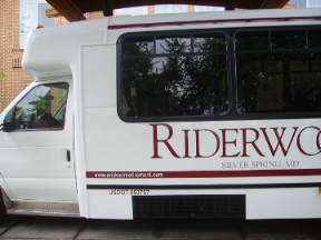 Riderwood shuttle bus
