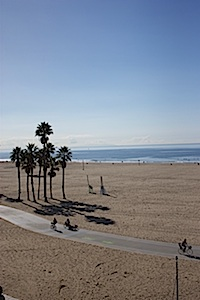 Santa Monica beach bike path