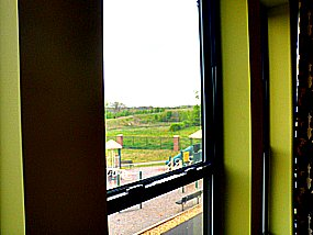 spring hill view from window