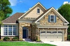 Regency at White Oak rendering of model home