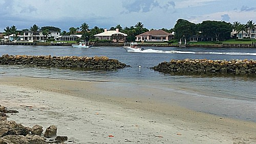 Florida cove in Jupiter Florida