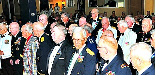 formal social gathering of military retirees