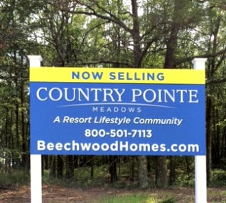 signage for Country Pointe Meadows on Long Island NY