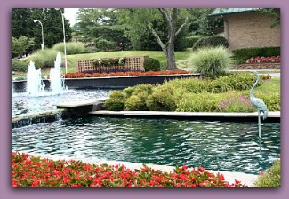 Leisure World fountain at entrance