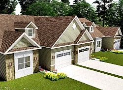 Rendering of Matteson Ridge condo units in triplex building in West Warwick, RI