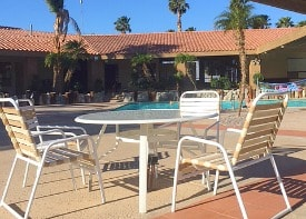 Caliente Springs clubhouse and pool