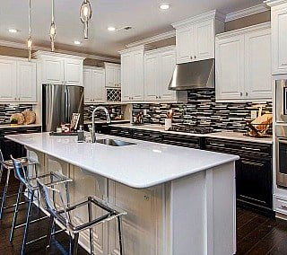 Kolter homes kitchen island in model home