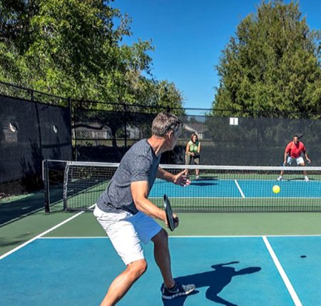 pickle ball courts at Cresswind by Kolter Homes
