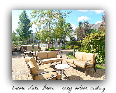 Encore Lake Grove outdoor seating