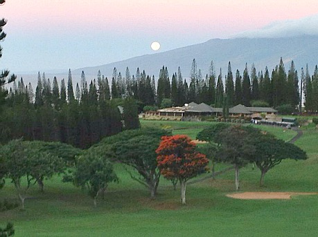 moon over Hawaii