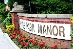 Kings Park Manor sign at entrance