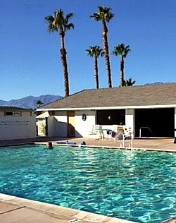 Rainbow Spa RV park pool in Desert Hot Springs