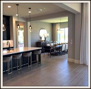 Rancho Mirage Serenity Plan separate and spacious dining area