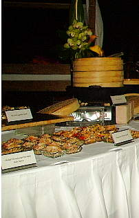 resort buffet table
