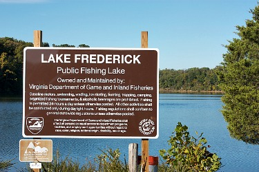 Lake frederick Va. sign