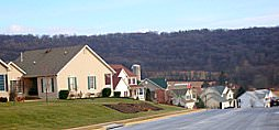 Village at Foxfield homes and hills